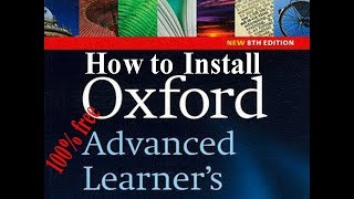 How to install Oxford Advanced Learner's Dictionary 8th Edition for PC 100% free 2018 screenshot 5