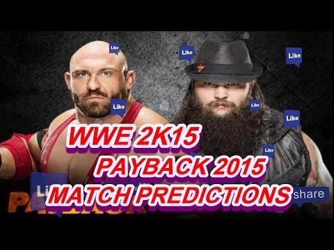 WWE 2K15 - PAYBACK 2015 Ryback vs. Bray Wyatt (Predictions) [WWE XBox One/PS4/NEXT GEN] - 동영상