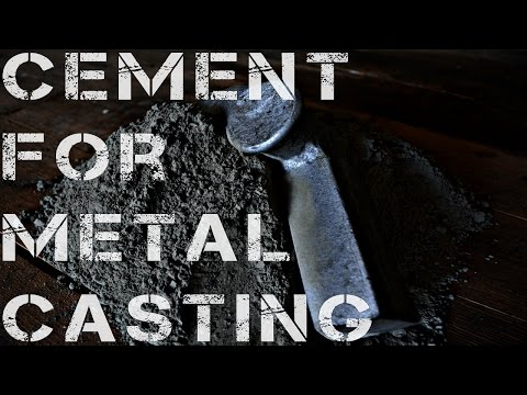 Cement for metal casting?