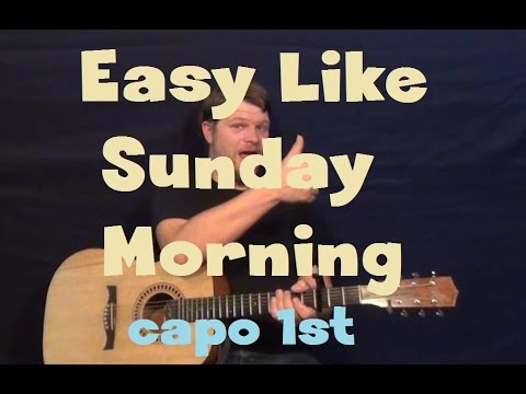 Easy Like Sunday Morning (Lionel Ritchie) Easy Guitar Lesson How to Play Capo 1st Fret