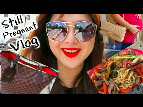 Still Preg Vlog!!( Baby Shower GRWM&OOTD, Cooking, LV Neverfull, Package with Love)