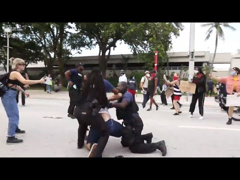 Arrests made during Wednesday's protest in downtown Miami