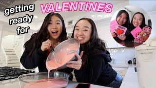 GETTING READY FOR VALENTINES *with my best friend* | Nicole Laeno