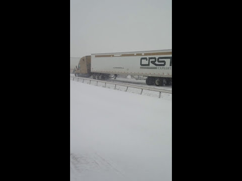 I-80 Wyoming massive car pile up. April 2015