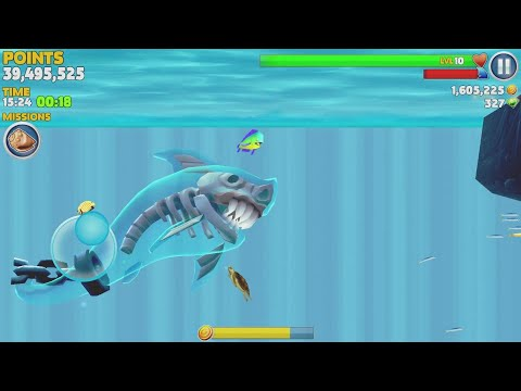 Hungry Shark Evolution Ghost Shark Android Gameplay #6