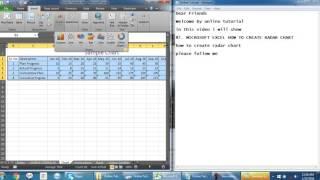 87  MICROSOFT EXCEL HOW TO CREATE RADAR CHART