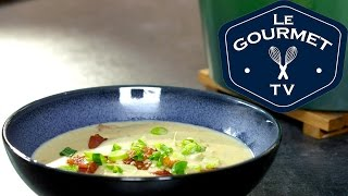Cheesy Bacon Potato Soup Recipe - Legourmettv