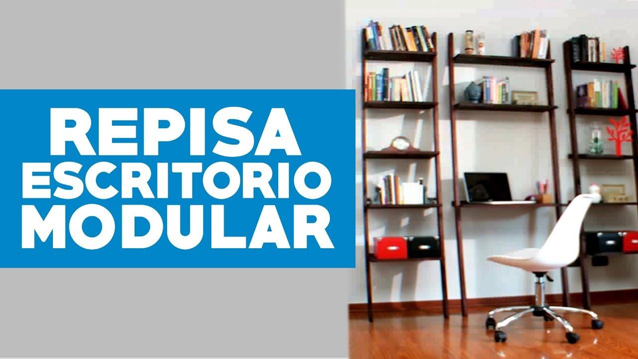 Cómo hacer una repisa escritorio modular? - YouTube