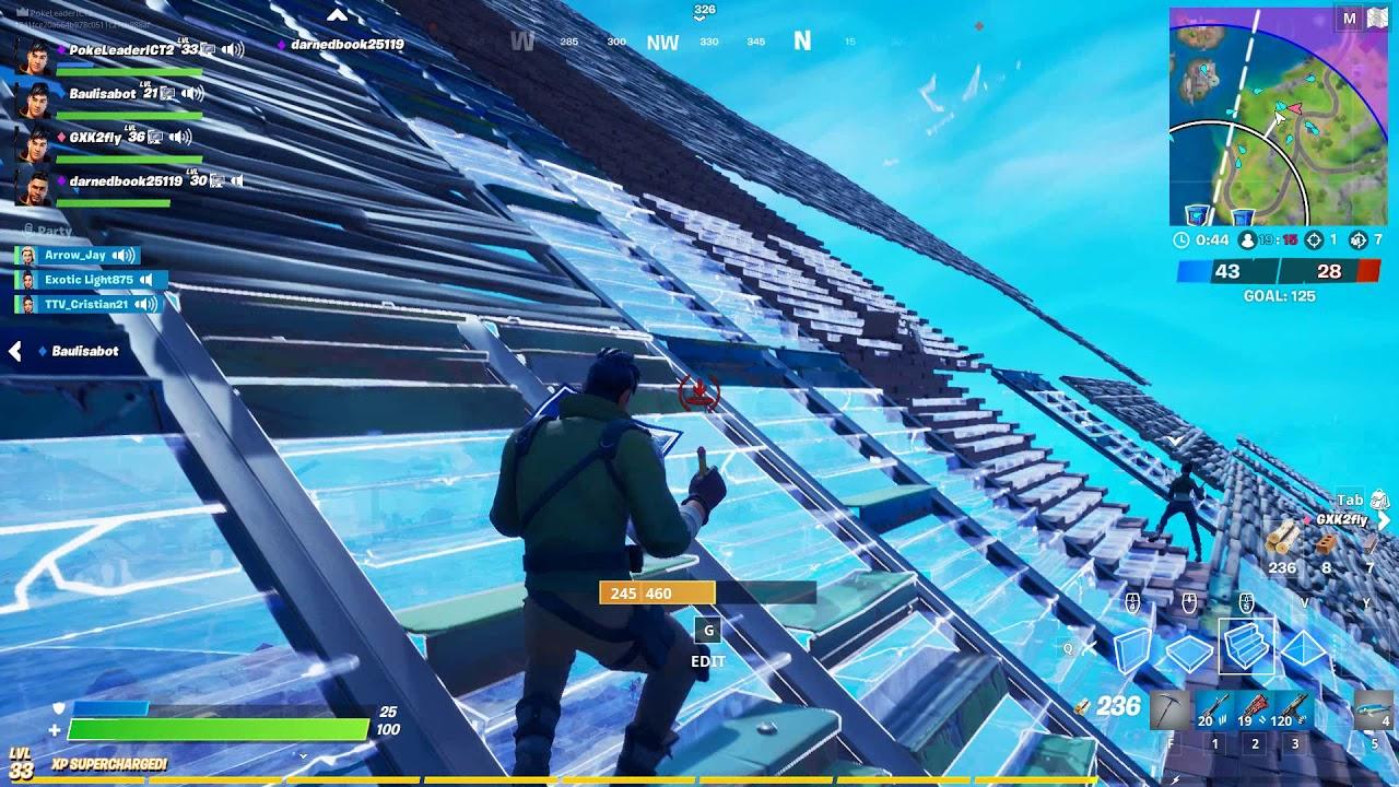 Fortnite Massive Sky Base in team rumble!!! Truley Amazing.