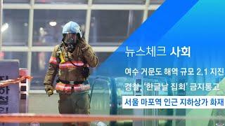서울 마포역 인근 지하상가 화재…연기 흡입 3명 이송 …