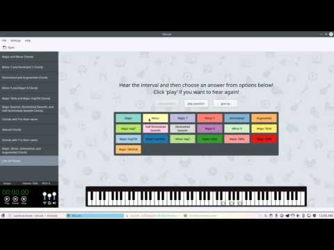 Minuet - KDE Software for Music Education