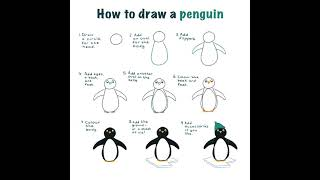 How to draw a penguin in 9 easy steps tutorial