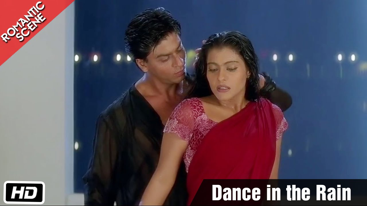 Dance In The Rain Romantic Scene Kuch Kuch Hota Hai Shahrukh