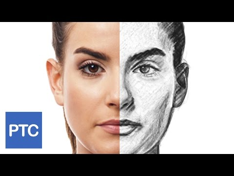 How To Create a Pencil Drawing From a Photo In Photoshop - Line Drawing Effect