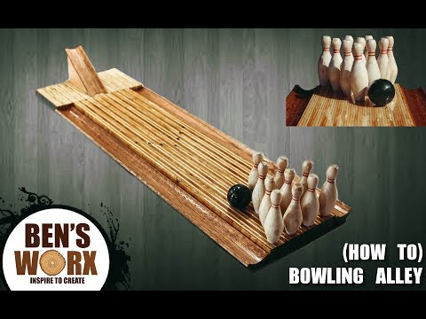 How to make a mini bowling alley