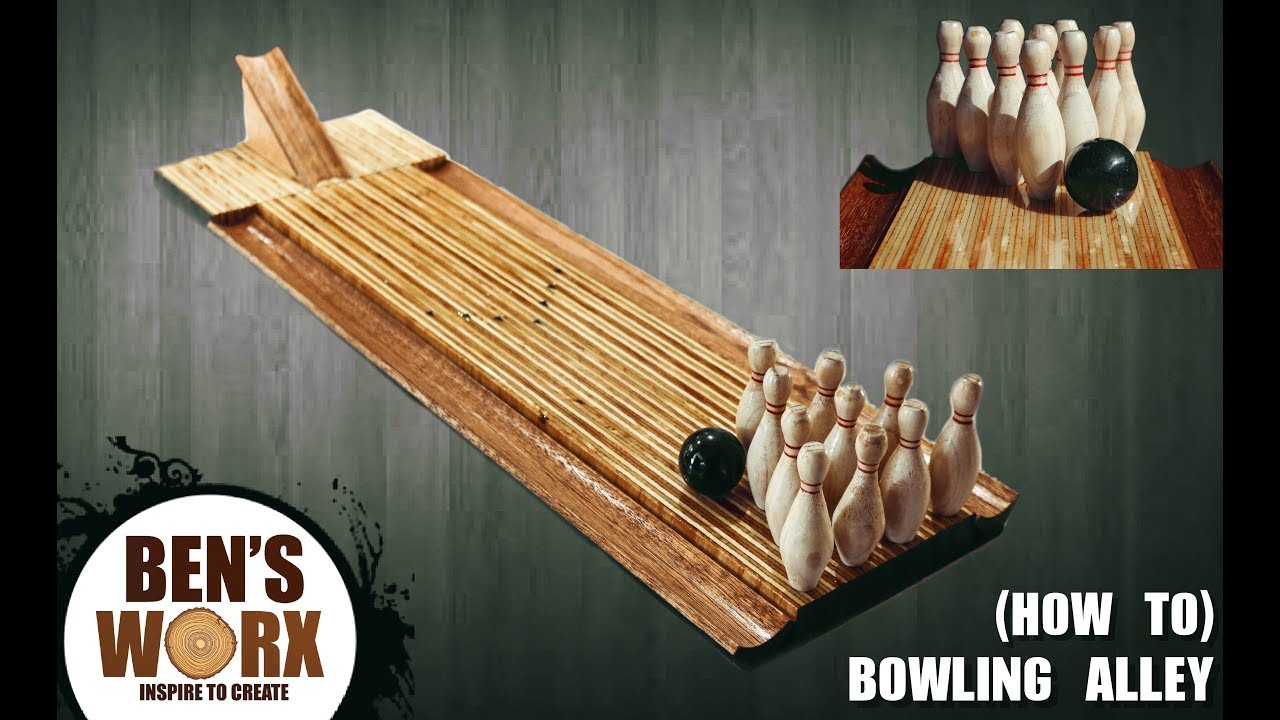 How to make a mini bowling alley - YouTube
