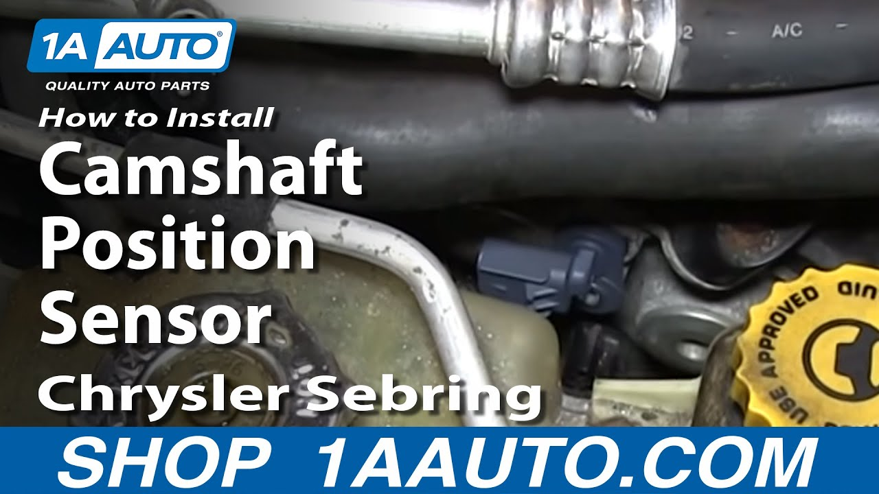 small resolution of how to install replace camshaft position sensor 2 7l v6 chrysler dodge