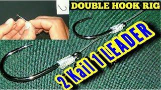 Cara Merangkai Double Hook ( 2 Kail 1 Leader )