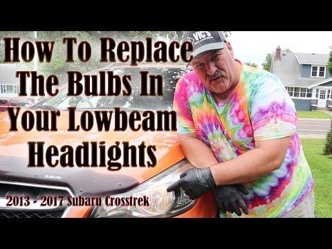 How To Replace Your Low Beam Headlights 2013-2017 Subaru Crosstrek
