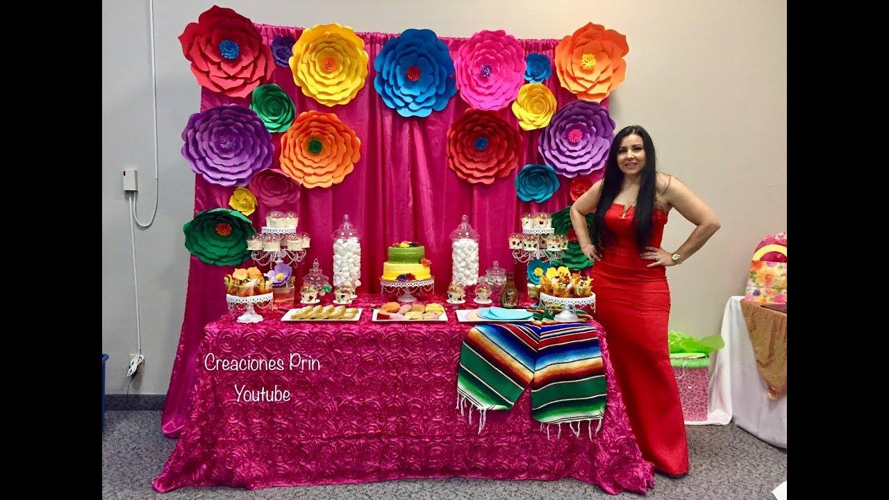 Mesa mexicana y postres que prepare para mi cumplea os - Ideas para decorar cumpleanos de adultos ...