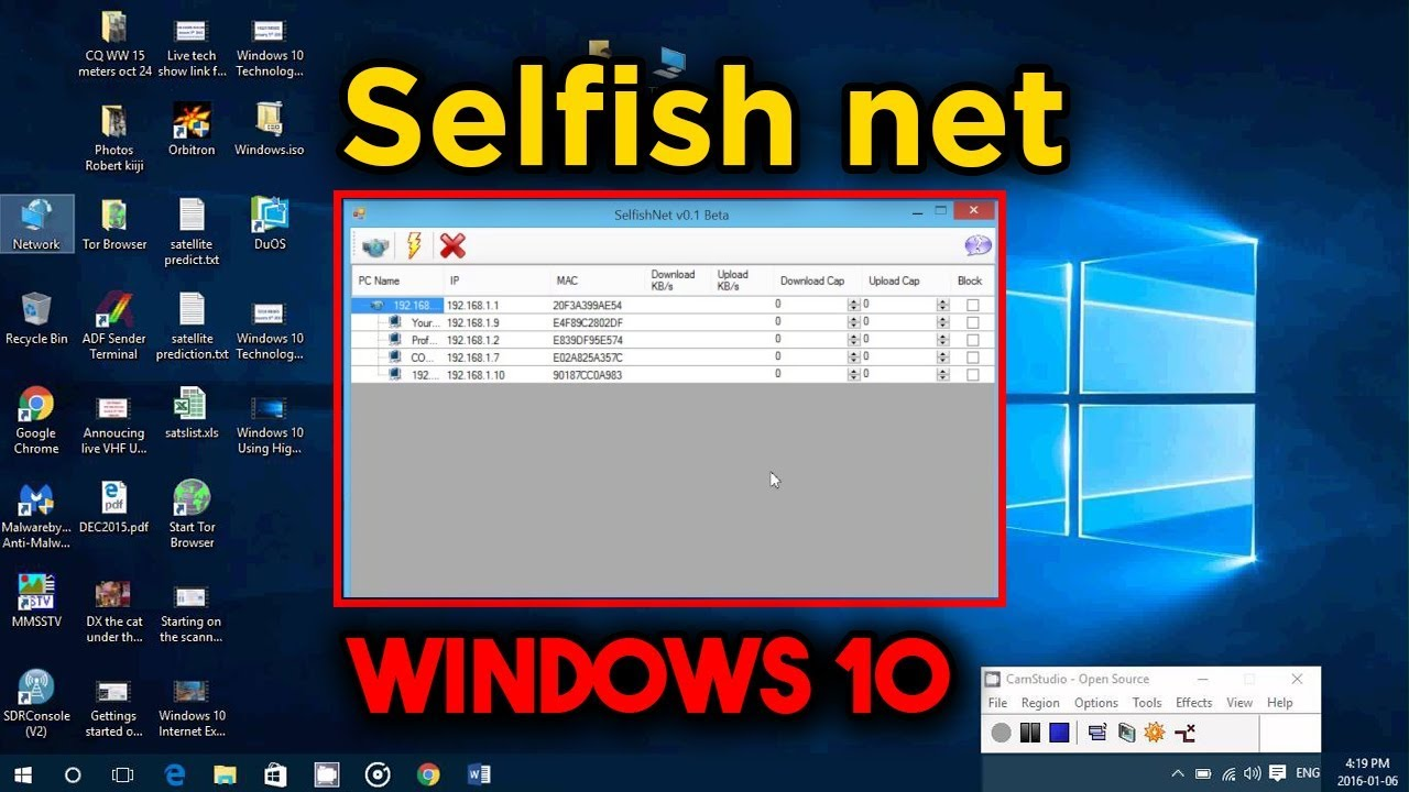 selfishnet windows 10 64 bits