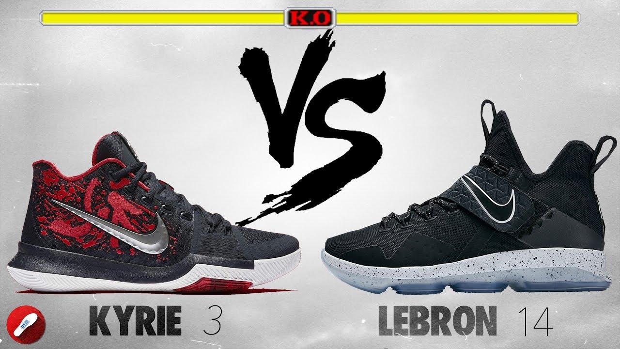 Nike Kyrie 3 vs Lebron 14! - YouTube