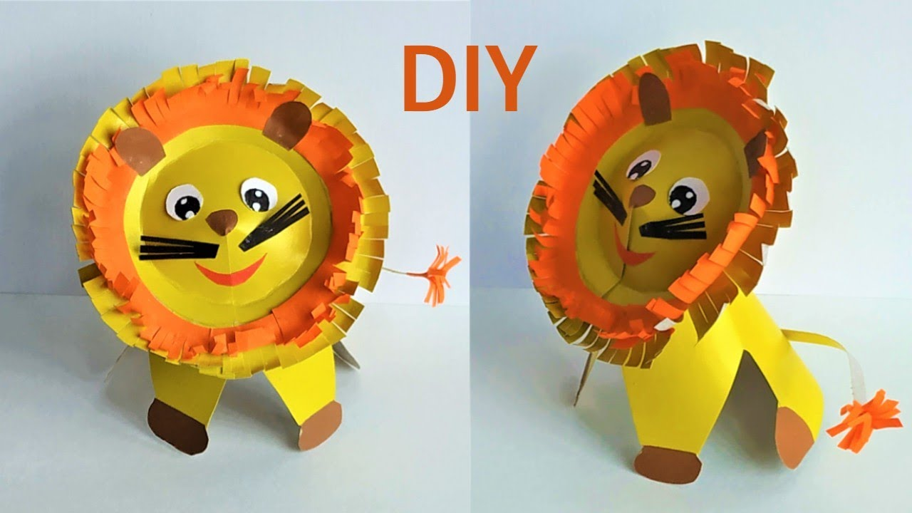Как сделать льва из бумаги. DIY a paper lion