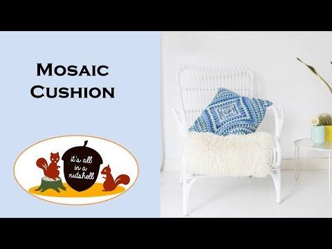 Mosaic Cushion - Free Crochet Pattern