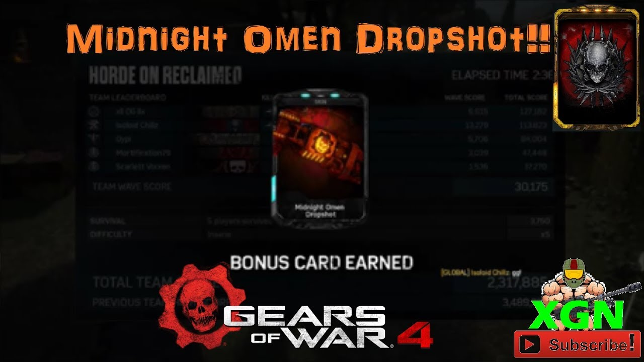 Gears of War 4 How to unlock Midnight Omen Boomshot, Year of the Dog Horde  event by XGN