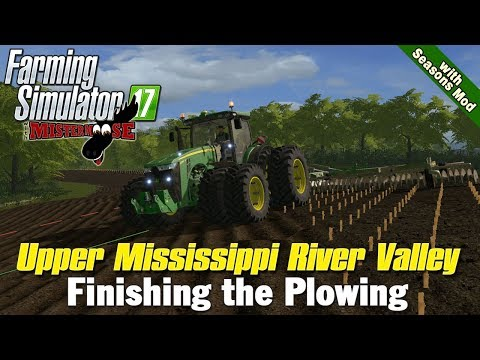 Farming Simulator 17 | Plowing on Upper Mississippi River Valley map with Seasons Mod