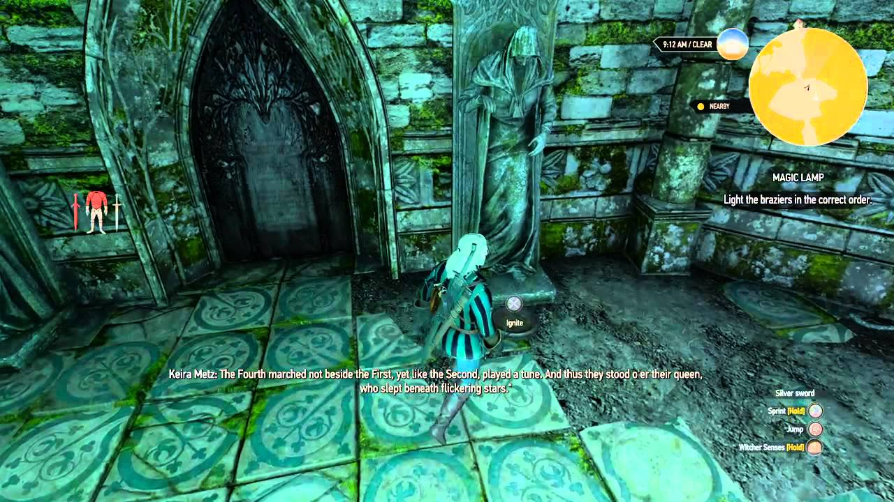 The Witcher 3 Guardians Magic Lamp Puzzle - YouTube