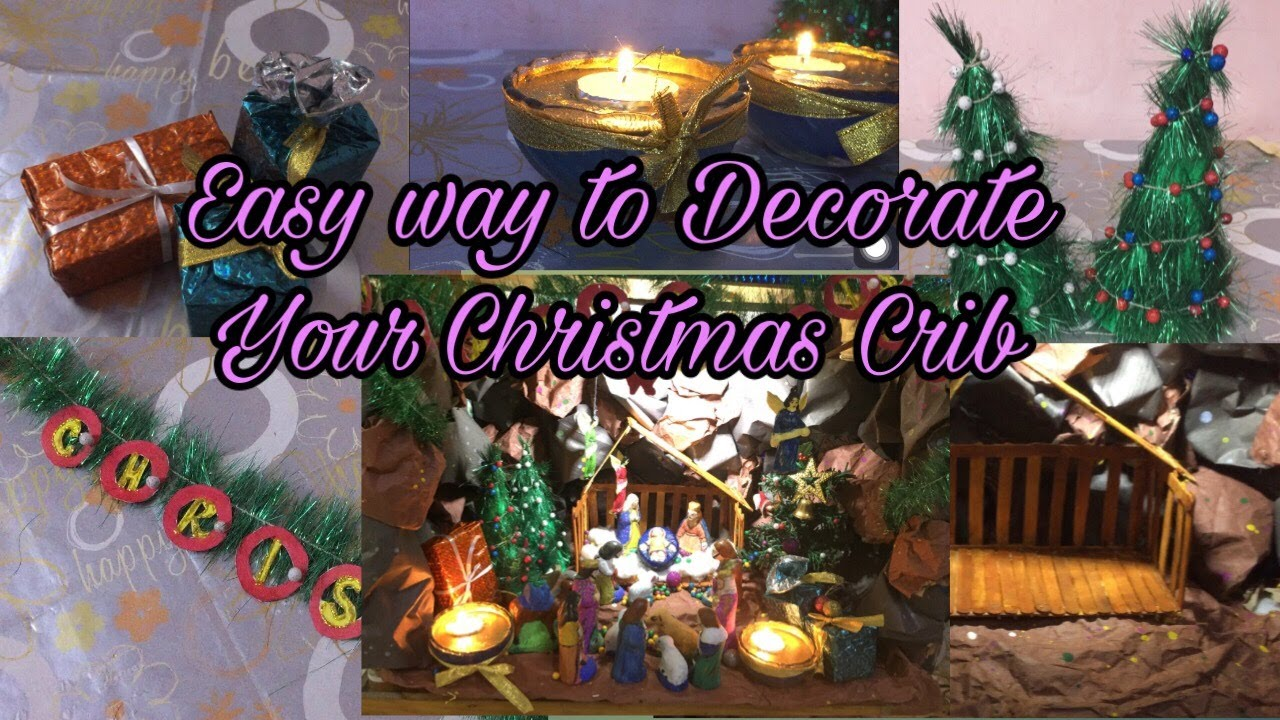 How To Make Christmas Crib At Home Decoration Ideas Craft Youtube