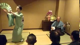 三味線:杵屋栄津三郎師匠 踊り:西川司づ花さん.