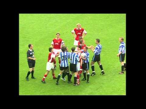 Di Canio's Super Funny Sending Off & Push On Referee