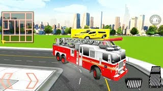 Firefighter Emergency Rescue Hero 911 - 3D Fire Engine Game - Android Gameplay FHD
