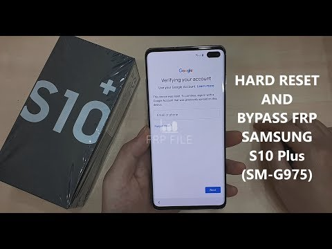 Hard Reset And Bypass FRP Google Account Samsung Galaxy S10 Plus (SM-G975)