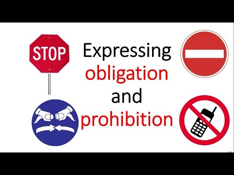 Download Expressing obligation and prohibition
