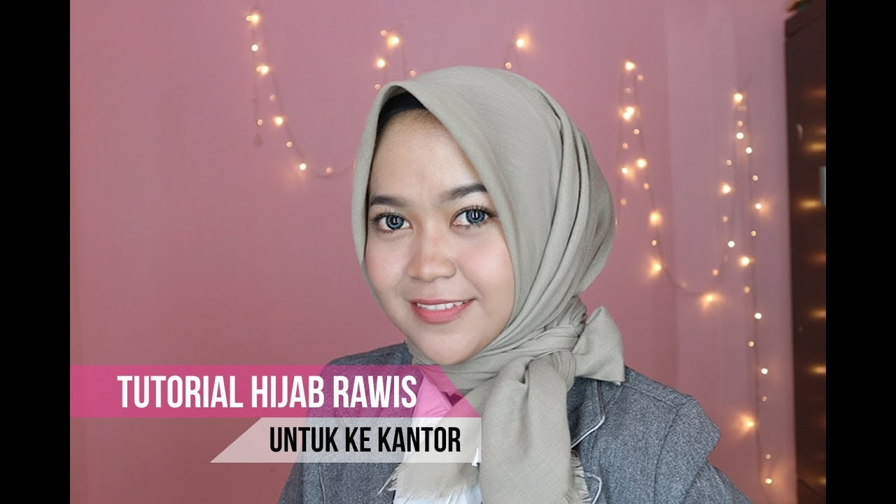Tutorial Hijab Segi Empat Untuk Ke Kantor Simpel Youtube
