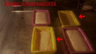 Recipe to test Cake Gel emulsifier