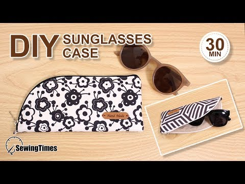 DIY Sunglasses Case | 선글라스 지퍼 파우치 | Easy Sewing Round Zipper Pouch tutorial [sewingtimes]