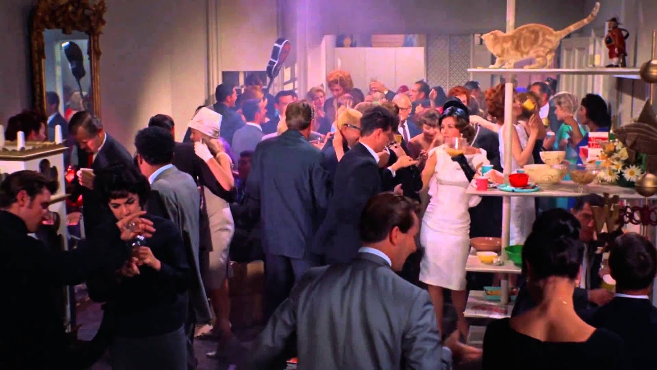 Image result for breakfast at tiffany's party scene