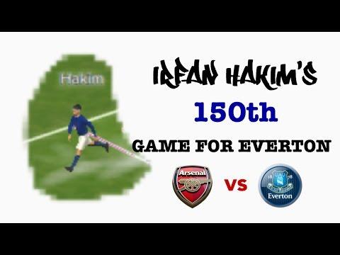 Arsenal 5-5 Everton (Irfan Hakim's 150th game for Everton)