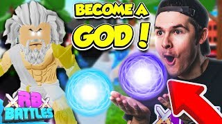BECOME THE ULTIMATE GOD IN GOD SIMULATOR TO WIN 11,000 ROBUX! (Roblox Battles)