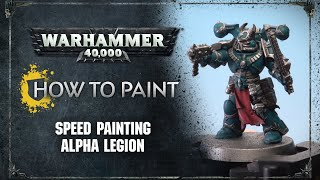 How to Paint: Speed Painting Alpha Legion