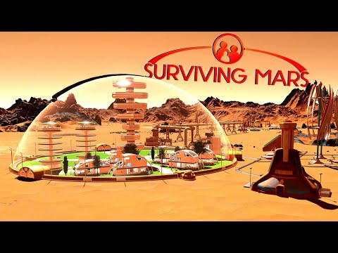 Dome Construction and Human Housing! - Ep. 2 - Surviving Mars Gameplay