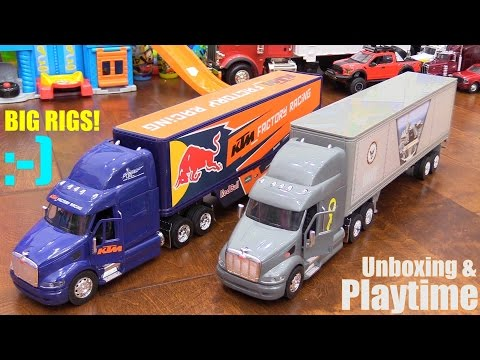 Toy Review Channel: Disney Pixar CARS, Semi Hauler Trucks w/ Trailers and RC TANKS Playtime!