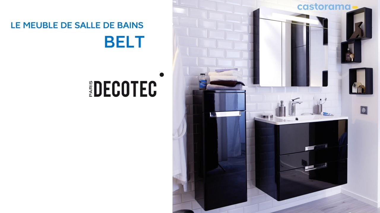 meuble de salle de bains belt decotec 649140 castorama youtube. Black Bedroom Furniture Sets. Home Design Ideas