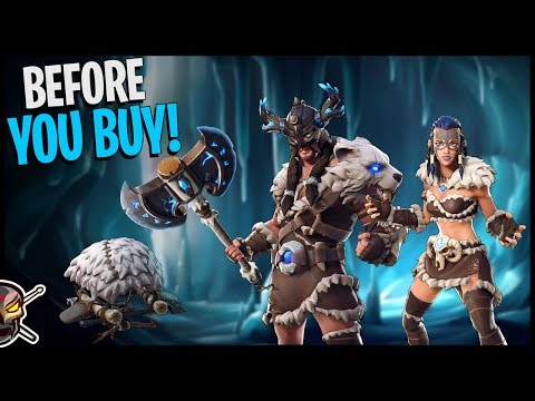 Before You Buy FYRA and JAEGER! Battle Axe and Tusk In-Game Test - Fortnite