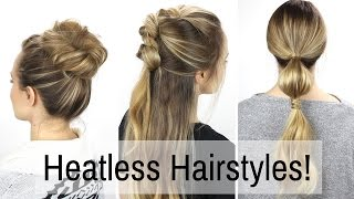 7 Days of Heatless Hairstyles!