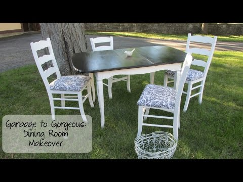 Garbage to Gorgeous Episode #10:Shabby Chic Dining Room Makeover on a Budget DIY!